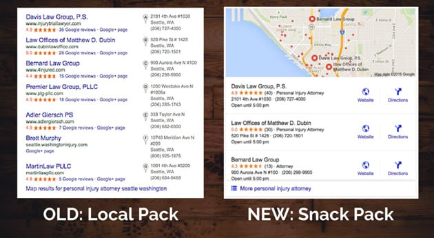 Google Snack Pack