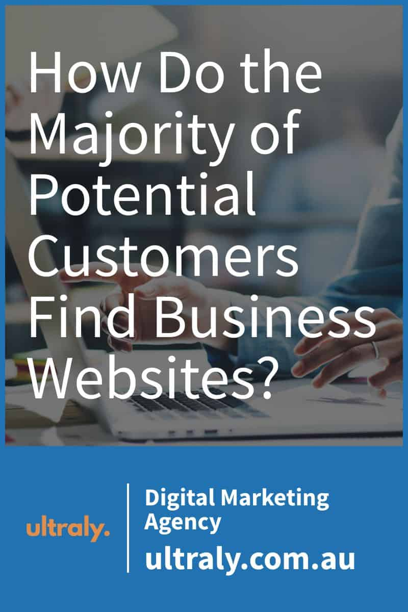 How Do the Majority of Potential Customers Find Business Websites